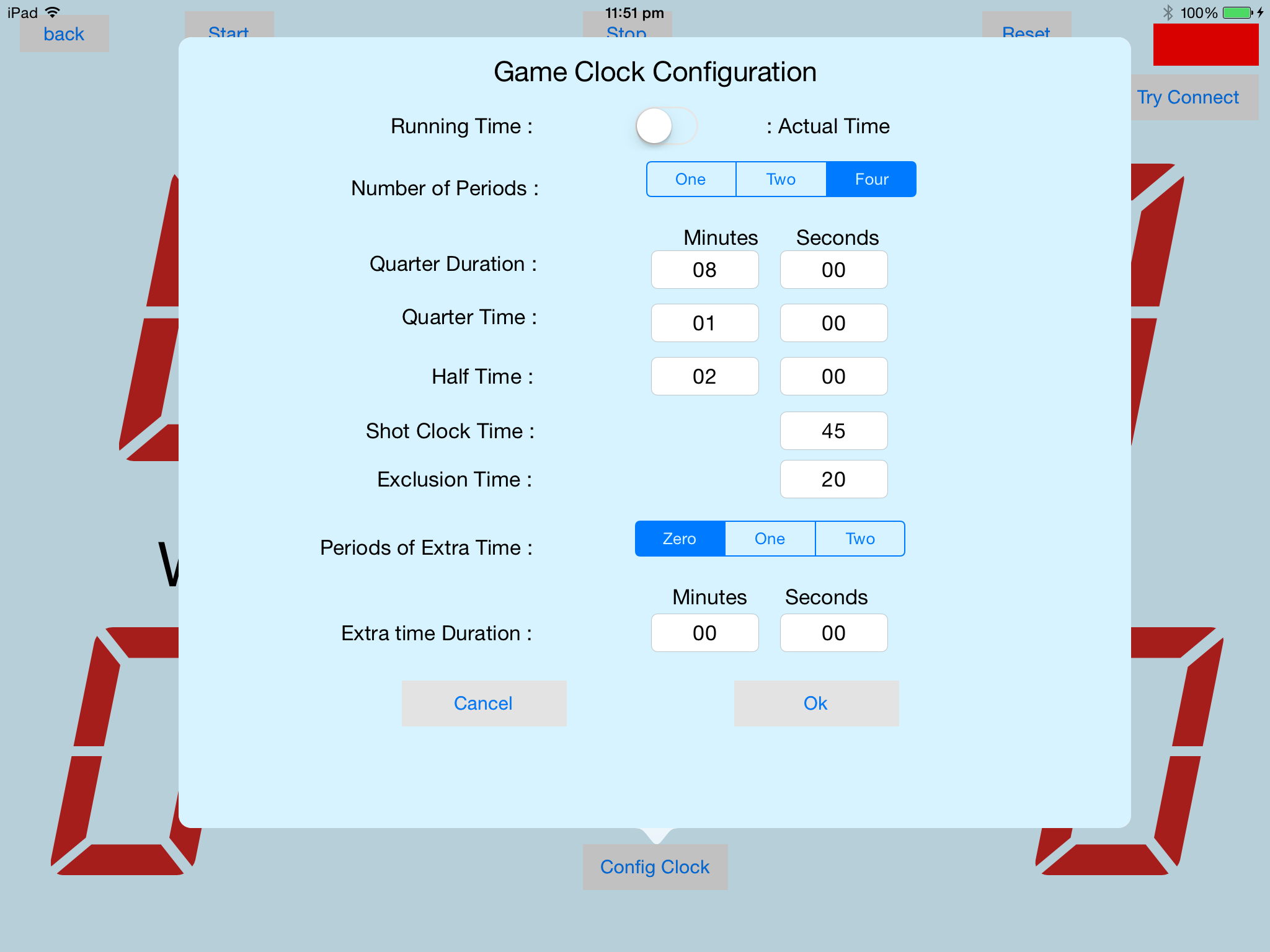The Slave Game Clock Config Clock Popover