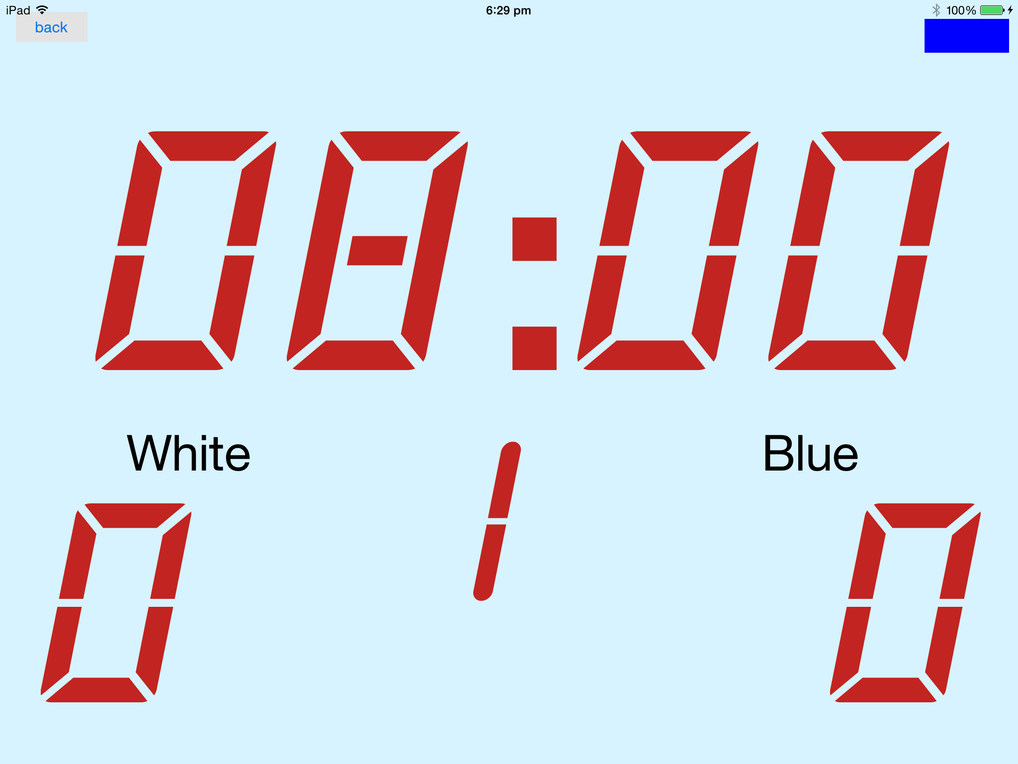 The Slave Game Clock - Uncontrolled State panel